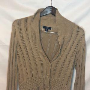 Chaps cardigan sweater petite large see pics